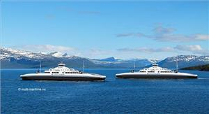 Illustration of the coming double-ended RoPax ferries (Image: Multi-Maritime)