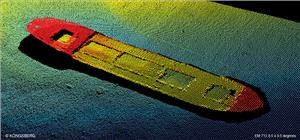 Underwater image captured using an EM 712 multibeam echo sounder (Image: Kongsberg Maritime)