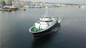 Argentina's new oceanographic and fishing research vessel 52m Victor Angelescu (Photo: Kongsberg)