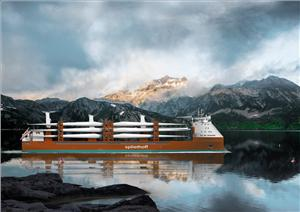 Rendering of Spliethoff's new R-type vessel (© Spliethoff Bevrachingskantoor B.V)